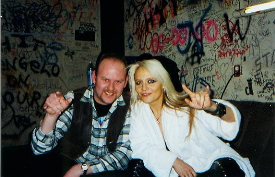 Doro Pesch and Arnold in 2002