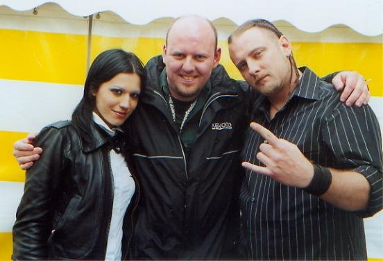 With Chris and Cristina at Dauwpop Festival 2006